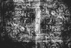 Noir abstrait modifié illustration de vecteur
