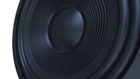Noir audio 3d de haut-parleur Photographie stock