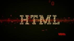 Noir binaire de HTML de mots-clés illustration stock