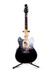Noir coupé de double de guitare acoustique Image stock