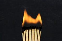 Noir d'allumettes photo stock
