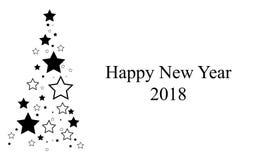 Noir d'arbre de nouvelle année Image libre de droits