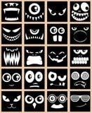 Noir d'avatars Image stock