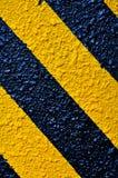 Noir d'avertissement et jaune traditionnels Photo libre de droits