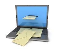 Noir d'email d'ordinateur portatif illustration libre de droits