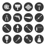 Noir d'icônes d'instruments de constructeur Photo libre de droits