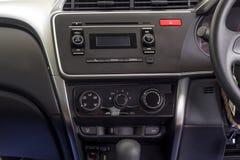 Noir d'intérieur d'intérieur de tableau de bord de voiture Photographie stock libre de droits