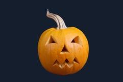 Noir d'isolement par Jack O'Lantern de Halloween de potiron Image libre de droits