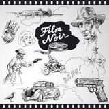 Noir da película - coleção do vintage Foto de Stock