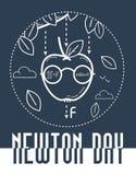 Noir de bannière de Newton Day illustration stock