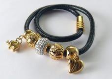 Noir de bracelet Photos stock