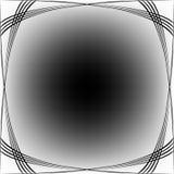 Noir de cadre d'ondes sur le blanc Illustration Stock