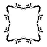 Noir de cadre de vintage sur le blanc Images stock