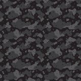Noir de camo de pixel Images stock