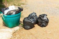 noir de déchets photos stock