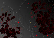 Noir de fleurs Photos libres de droits