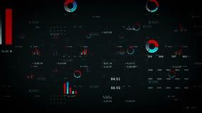 Noir de graphiques et de données de gestion illustration libre de droits