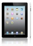 Noir de l'iPad 2 d'Apple Photographie stock