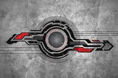 Noir de la géométrie de technologie illustration de vecteur