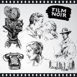 Noir de la película - colección de la vendimia Fotografía de archivo