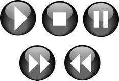 Noir de lecteur de CD de boutons Image libre de droits
