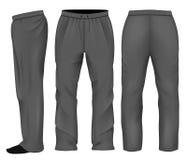 Noir de pantalon de survêtement d'hommes Photographie stock