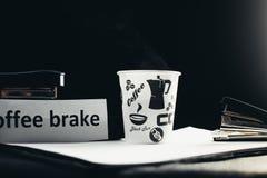 Noir de pause-café image stock