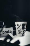 Noir de pause-café photographie stock