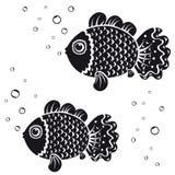 Noir de poissons Images libres de droits