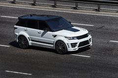 Noir de Range Rover Photographie stock