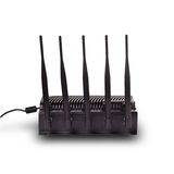 Noir de routeur avec l'antenne image libre de droits