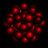 Noir de structure de sphère illustration libre de droits