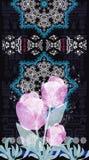 Noir de tulipe de Fleur du Brancovan 11X Photo libre de droits