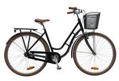 Noir de vélo de ville Image stock