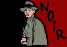 Noir detective Royalty Free Stock Photos