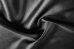 Noir doux de soie de tissu de foyer À emporter cette soie lavée par noir ! T Photo libre de droits