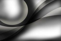 Noir et blanc abstrait Image stock