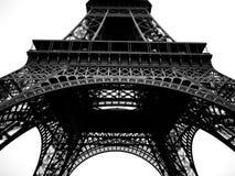 Noir et blanc de Tour Eiffel de Paris Image stock