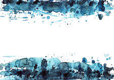 Noir et bleu Photographie stock libre de droits