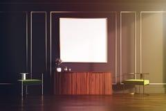 Noir et coffre de salon d'or des tiroirs modifiés la tonalité illustration libre de droits