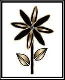 Noir et fleur d'or Photographie stock libre de droits