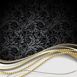 Noir et fond d'or Photo libre de droits