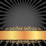 Noir et fond d'or Photographie stock libre de droits