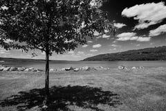 Noir et paysage de wight Photo libre de droits