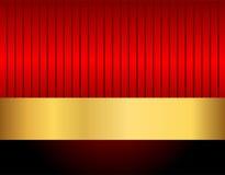 Noir et rouge d'or Photo libre de droits
