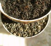 Noir et vert de _ de thé Photo libre de droits