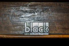 Noir fait avec les types métalliques Photo libre de droits