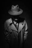 Noir filmtecken Arkivfoto