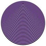 Noir fini violet de cercles concentriques d'art op Photos libres de droits