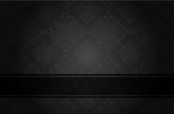 Noir floral de luxe Images stock